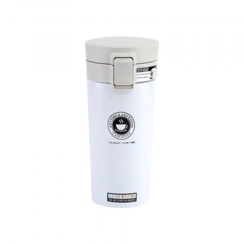 Thermal Cup With Pop-Up Lid (280 ml / White)